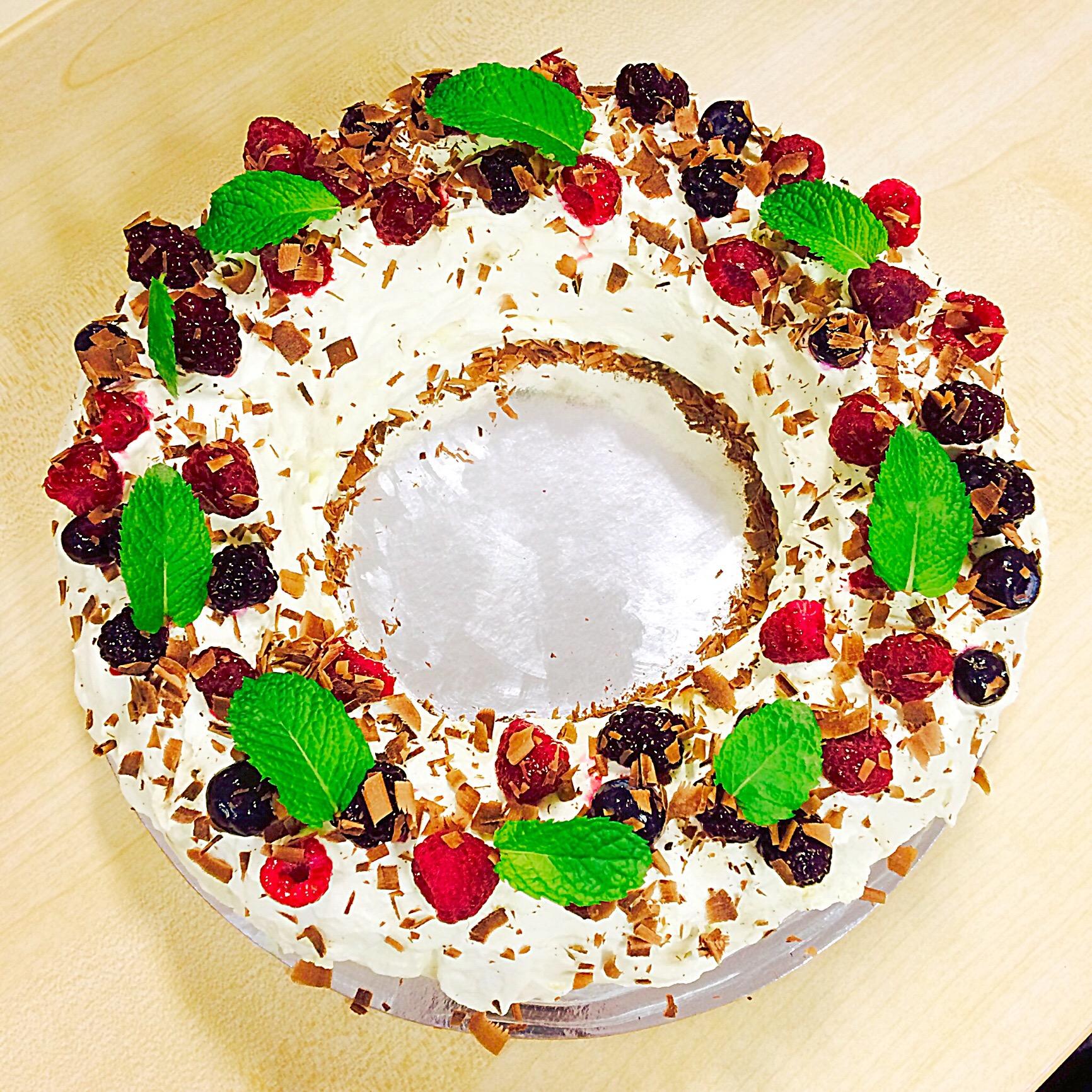 Choc ripple + butternut snap cookie Xmas wreath | tinman's treats